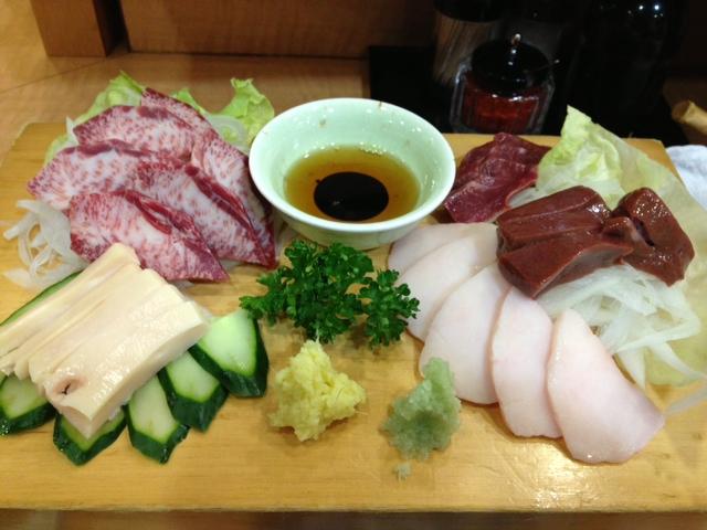 馬肉内臓5種料理(けんぞう)